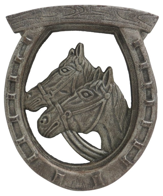 Cast Iron Horse's Head Door Knocker