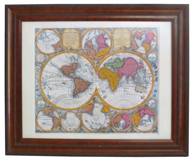 Engraving of the World