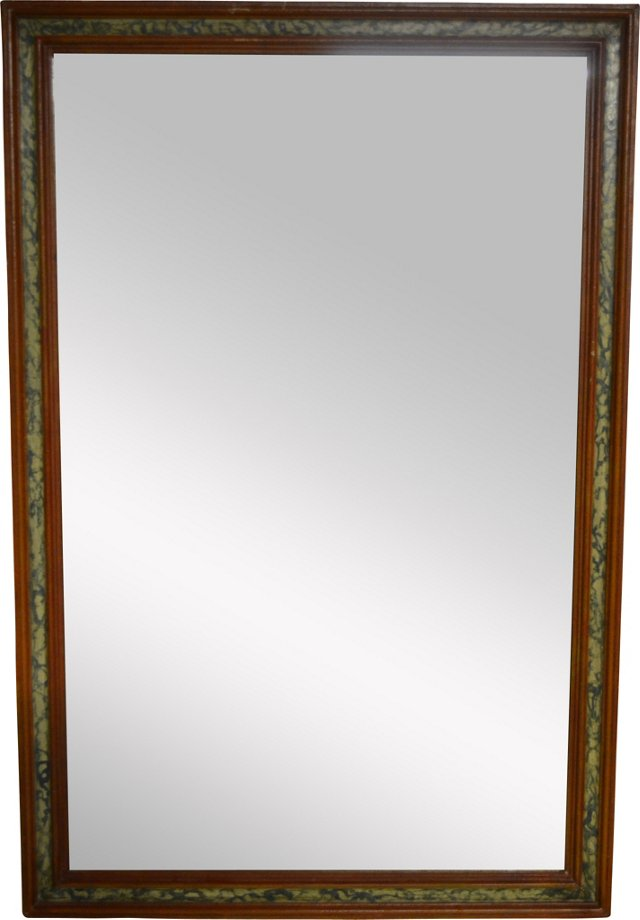 Russian Mirror w/ Hand-Painted Frame