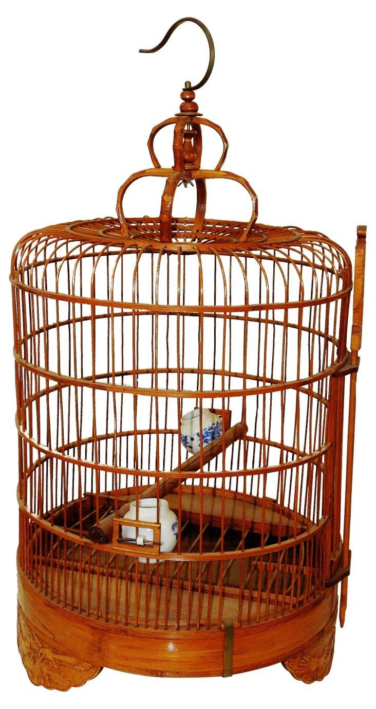 Oriental Bamboo Bird Cage
