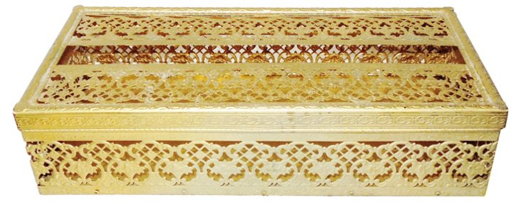 Gold Tissue-Box Cover