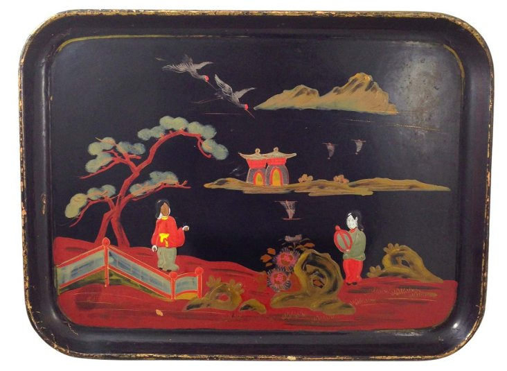 Antique Asian Tray