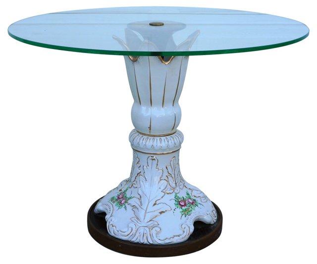 Capodimonte Porcelain & Glass Table