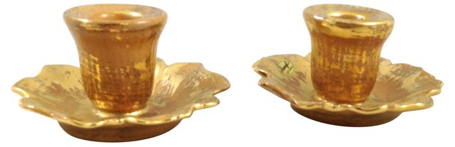 Stangl Candleholders, Pair