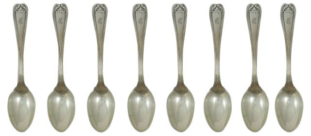 Tiffany & Co. Sterling Spoons, S/8