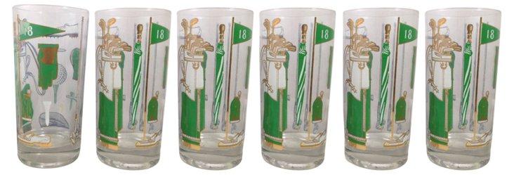 Georges Briard Golf Glasses, S/6