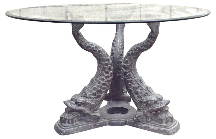 Glass  & Iron Dining Table