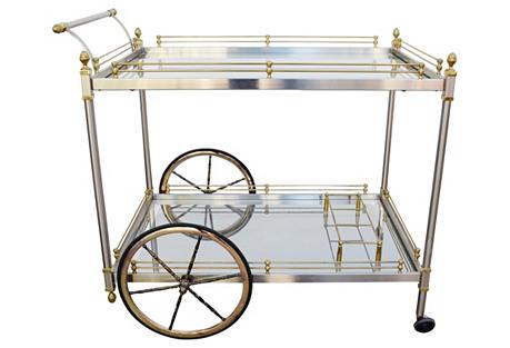 Brass & Chrome Bar Cart