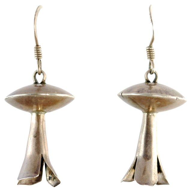 Navajo Squash Blossom Earrings