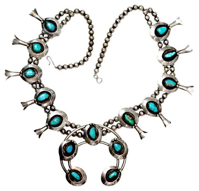 Shadow Box Squash Blossom Necklace