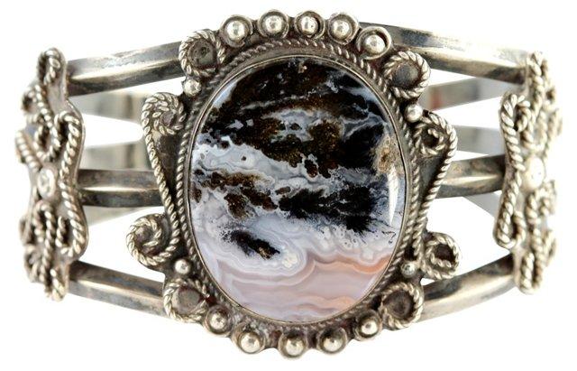 Navajo Landscape Agate Bracelet
