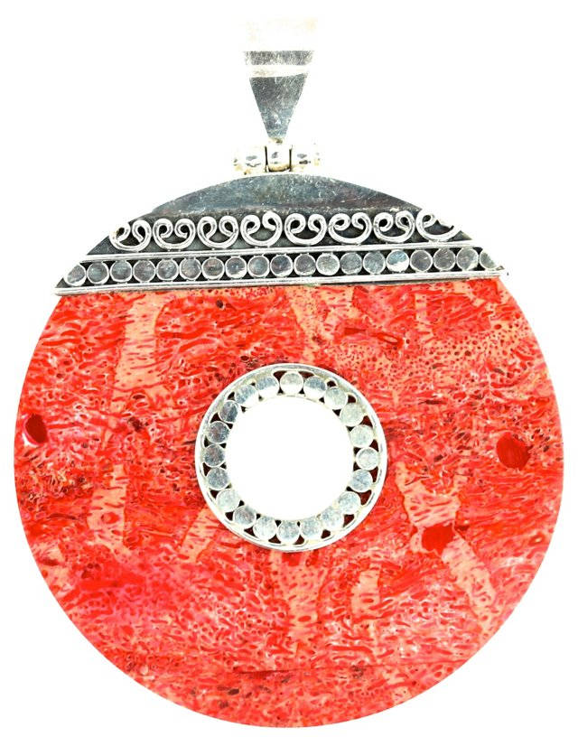 Red Sponge Coral Pendant