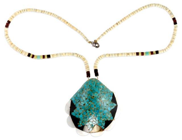 Santo Domingo Mosaic Shell Necklace