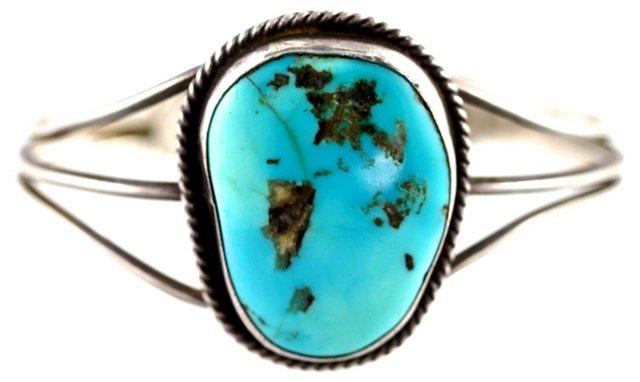 Navajo Silver & Turquoise Cuff