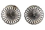 Navajo Stamp-Work Concho Earrings