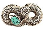 Turquoise Dragon Infinity Brooch