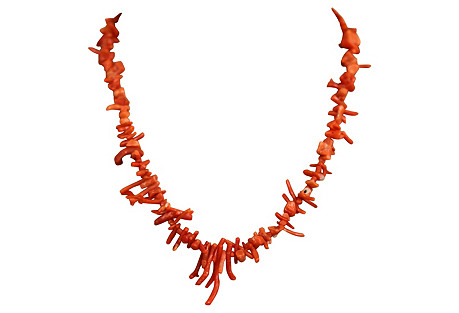 Red Branch-Coral Necklace