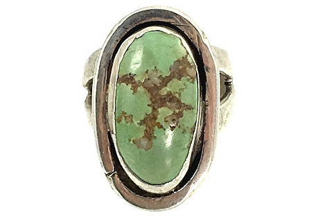 Green Turquoise Navajo-Style Ring