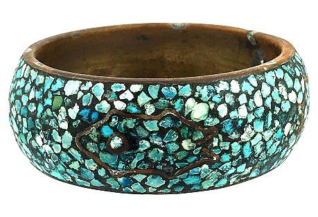 Turquoise Shard Mosaic Bangle Braclet
