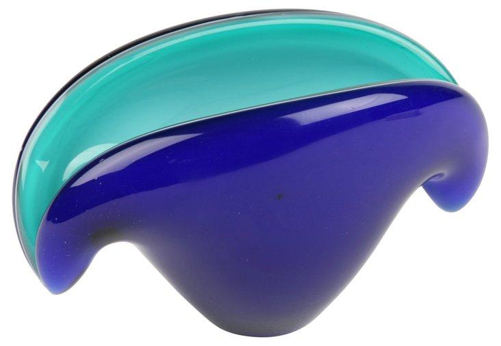 Venetian Glass Shell Dish