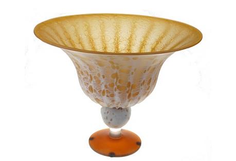 Huge Golden Murano Vase