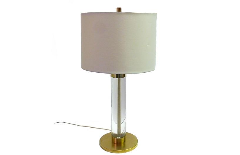 Frederick Cooper Lucite & Brass Lamp