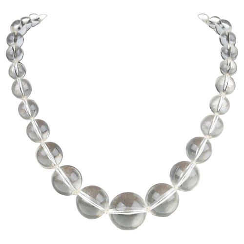 Clear Lucite Bead Necklace
