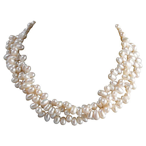 Faux-Pearls Necklace