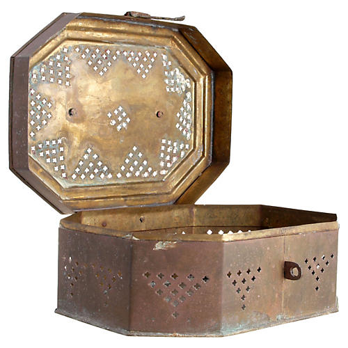 Handmade Indian Brass Container