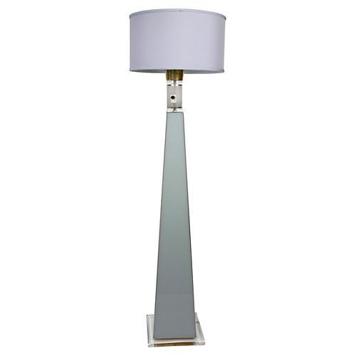 Tall Lucite Floor Lamp