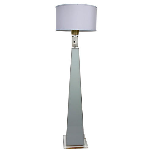 Tall Lucite Floor Lamp