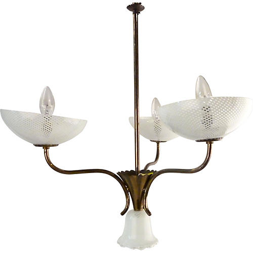 Seguso Filigreed Chandelier