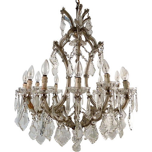 Murano Glass & Crystal Chandelier