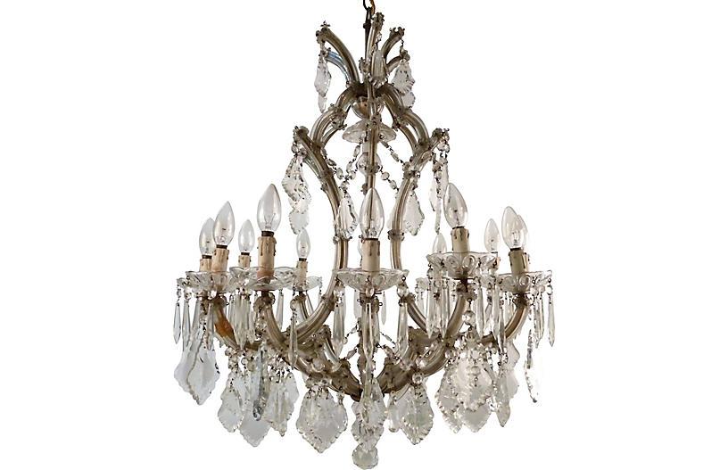 Murano Glass & Crystal Chandelier