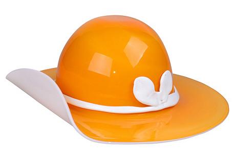 Venini Murano Art Glass Hat w/ Bow