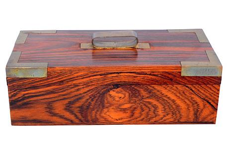 Decorative Rosewood & Brass Box