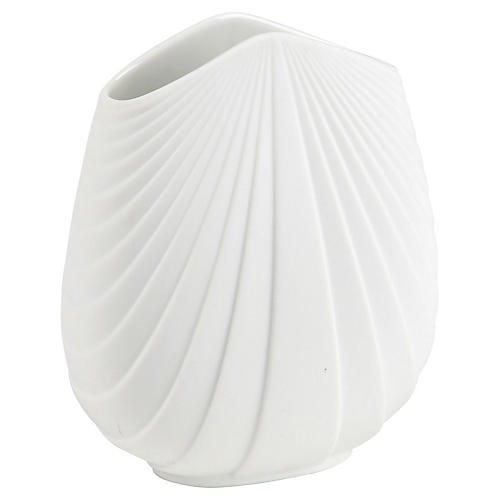 1980s Rosenthal Ceramic Fan Vase