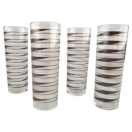 Tall Libbey Drink Glasses, S/4