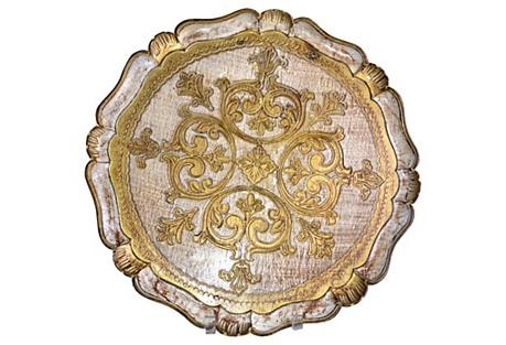 Florentine Round Tray