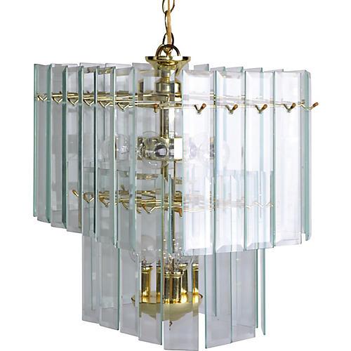 Glass Paneled Chandelier