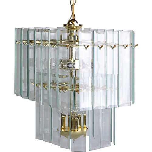 Glass Paneled Chandelier