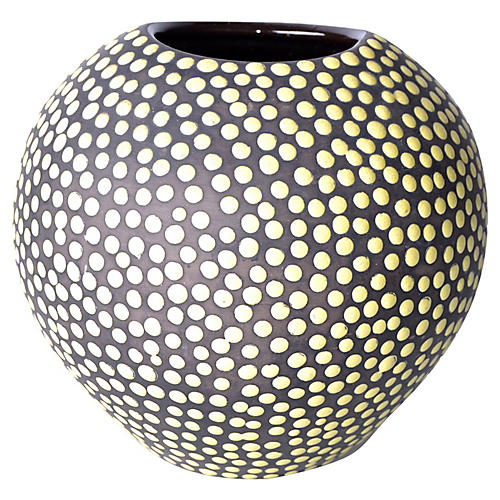 Yellow Dots Vase