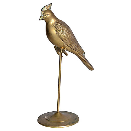 Brass Cockatoo on Stand