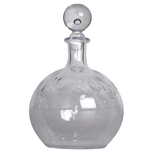 1960s Limor Crystal Decanter
