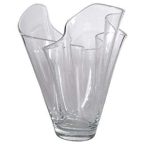 Handblown Handkerchief Vase