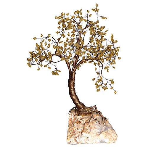 Handcrafted Metal Tree Sculpture