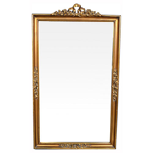 Hand-Carved Giltwood Mirror