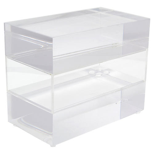 Clear Lucite Jewelry Box