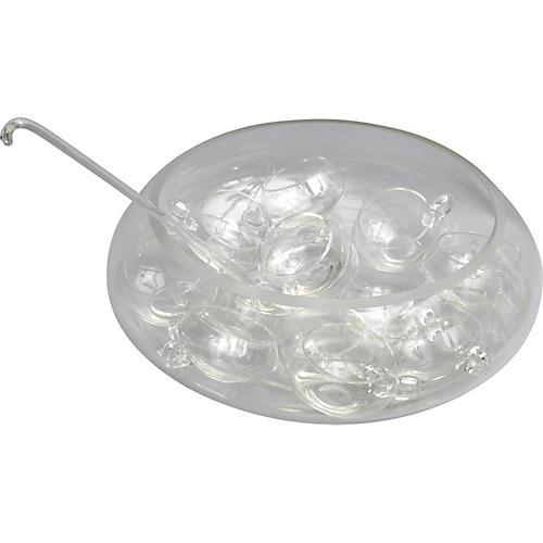 Cut-Glass Punch Bowl Set, 14-Pc