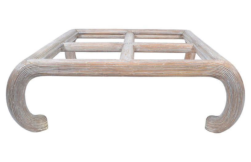 Asian-Style Faux-Bamboo Coffee Table